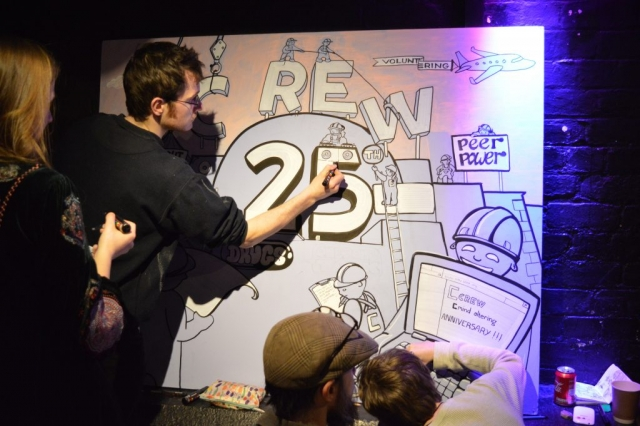 Live Art at Crew AGM by Too Much Fun Club